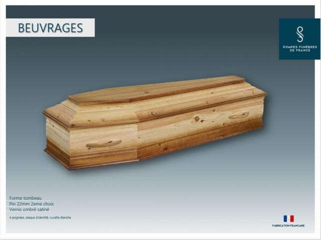 Cercueil crémation Beuvrages