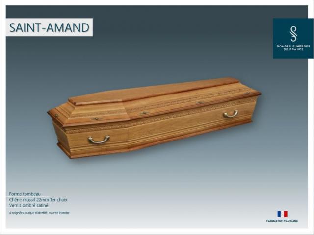 Cercueil inhumation Saint Amand