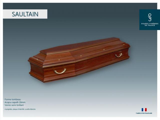 Cercueil inhumation Saultain